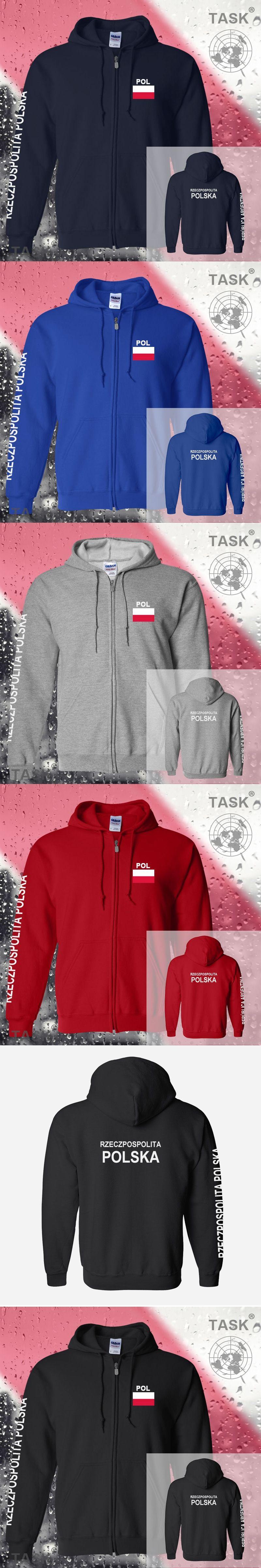 f6451defe4d Poland Polska POL Polish mens hoodies and sweatshirt jerseys polo sweat new  streetwear tracksuit nations fleece