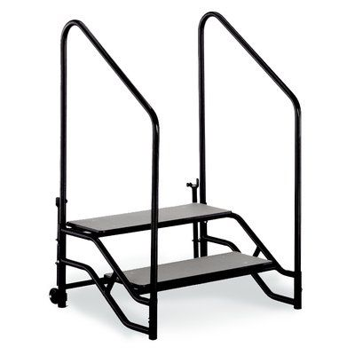 Best Midwest 2 Step Unit Portable Stage Retractable Stairs 640 x 480