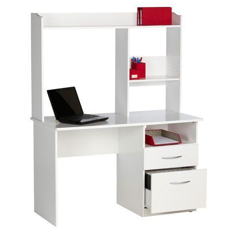 Officeworks Sturt Desk White Student Desk Width 119cm Home Office Computer Desk Desk Student Home White student desk with hutch