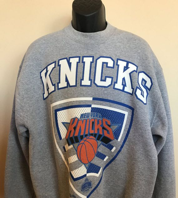 178ca710900 90s Knicks NBA Sweatshirt Vintage New York Basketball Pro Player Shirt  Classic Rare Retro Jersey Patrick Ewing Athletic XLarge Made in USA