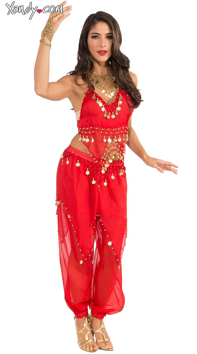 Red Belly Dancer Costume | Belly dancer costumes, Harem girl and ...