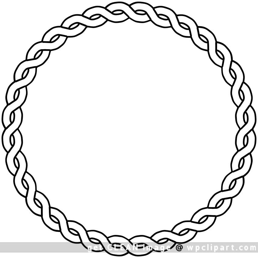 Http Www Wpclipart Com Page Frames Rope Rope Border Circle Png Clip Art Borders Round Border Public Domain Clip Art