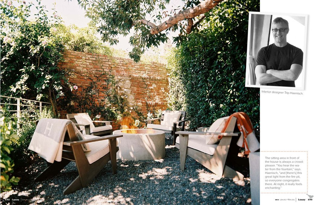 A beautiful backyard retreat created by Trip Haenisch, Interior Designer. So cool, inviting, and lovely! So inspiring.