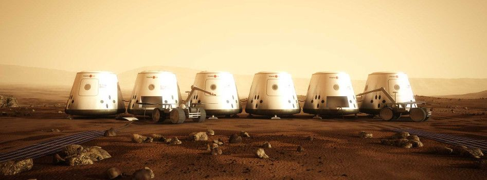 Mars One six Cargo units before the arrival of humans. The ...