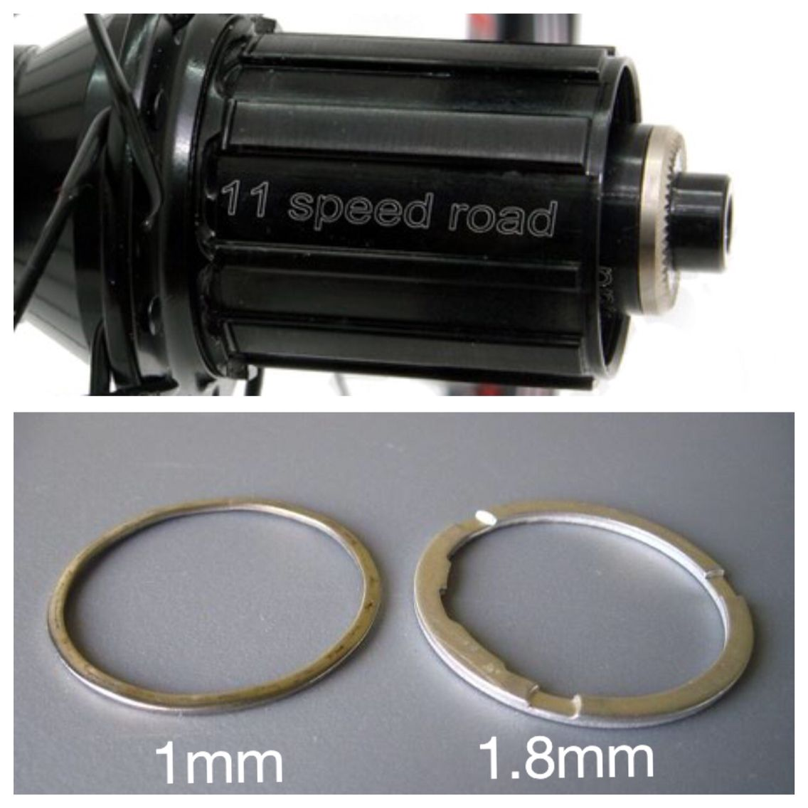 Top Tip:  When fitting a 10 Speed Cassette to an 11 Speed Free Hub, you must use a 1mm and 1.8mm Cassette Spacer to ensure there's no side or rotational play. Side play and the slightest rotational play can cause your gears to slip or shift poorly. It can wear your drivetrain quickly and damage your Free Hub.   It's not all done yet though, ensure the cassette locking is torqued to manufacturers requirements and you could save yourself money in the long run!