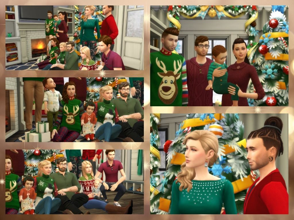 Sims 4 Christmas Poses.Christmas Gift 2 Big Family Pose Sims 4 Poses Family
