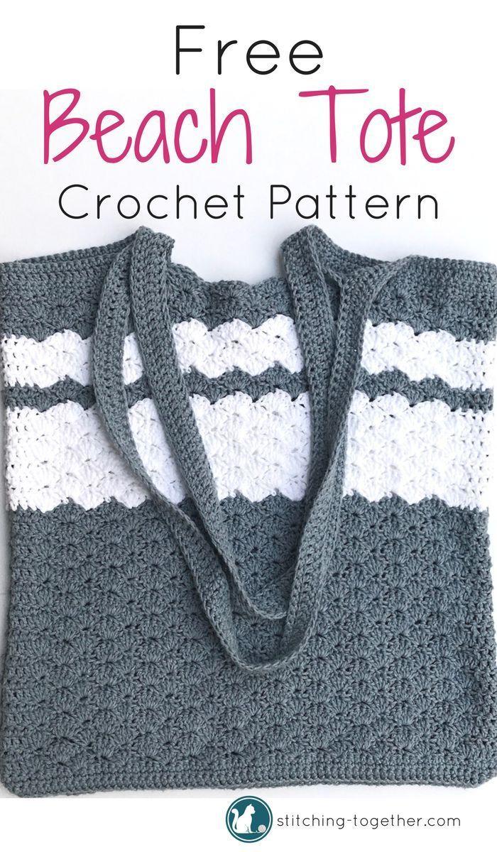 Take Me to the Beach Tote - Crochet Beach Bag | Pinterest | Free ...