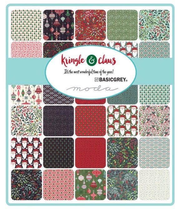 Moda Christmas Fabric 2019.Kringle Claus Cotton Fabric By Basic Grey For Moda Fabrics