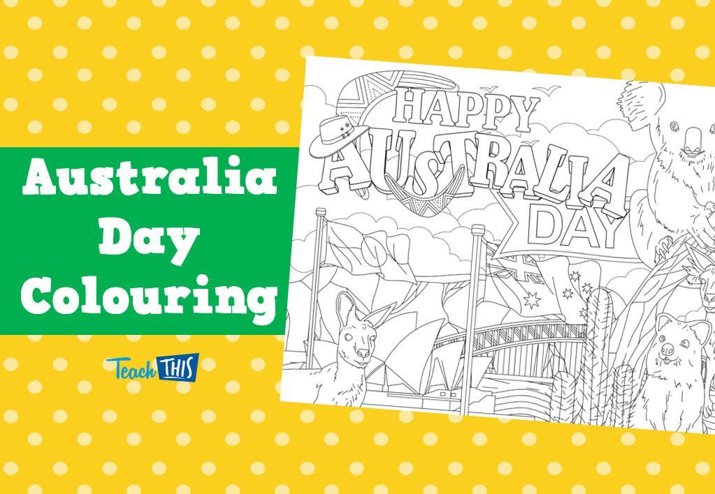 Australia Day ColouringIn Australia Day Teacher