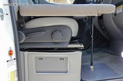 Create a Folding RV Bed for the Front Seats of your RV