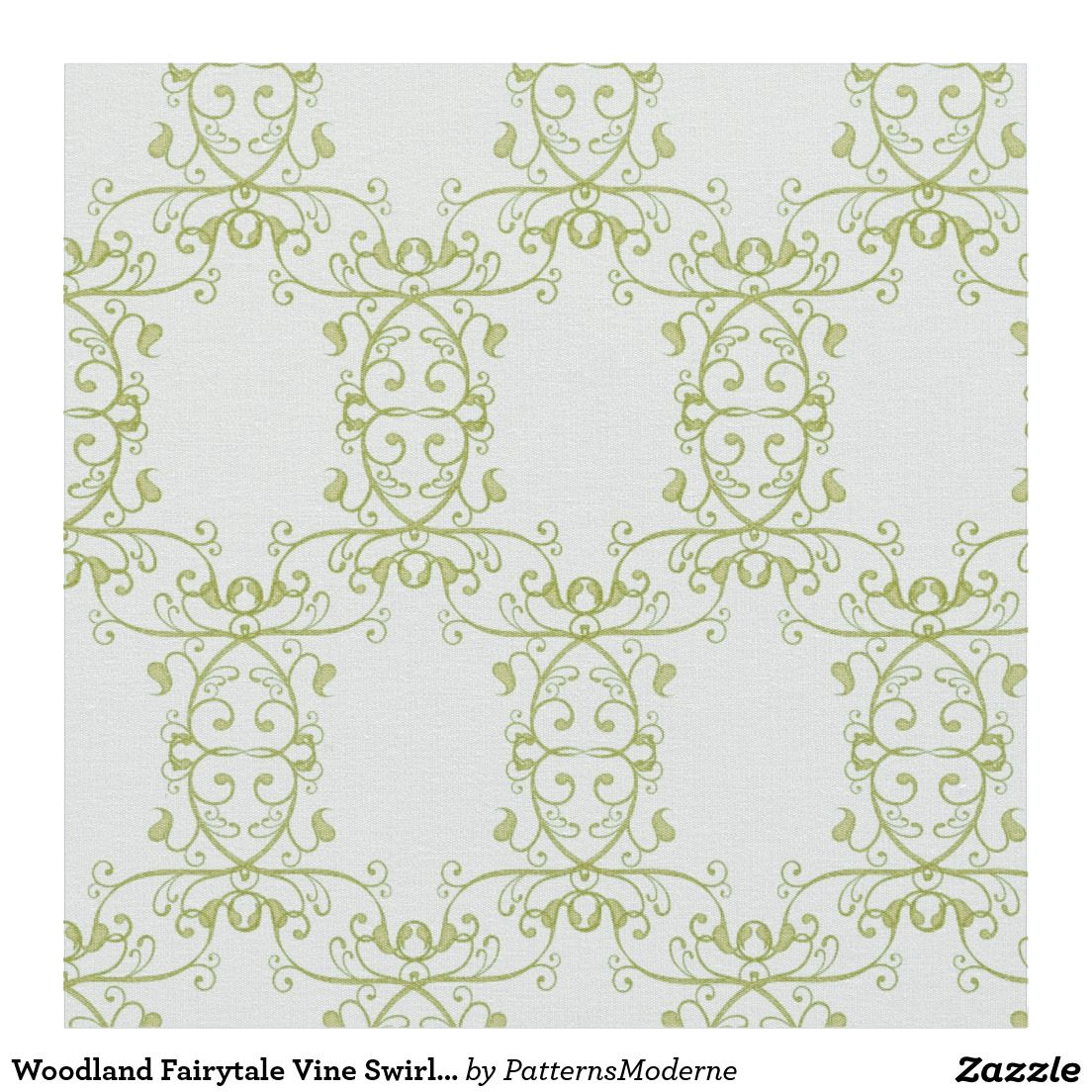 Woodland Fairytale Vine Swirl Baby Boy Nursery Fabric