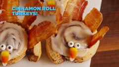 Cinnamon Roll Turkeys #cinnamonrollturkey Best Cinnamon Roll Turkey Recipe - How to Make Cinnamon Roll Turkeys #cinnamonrollturkey