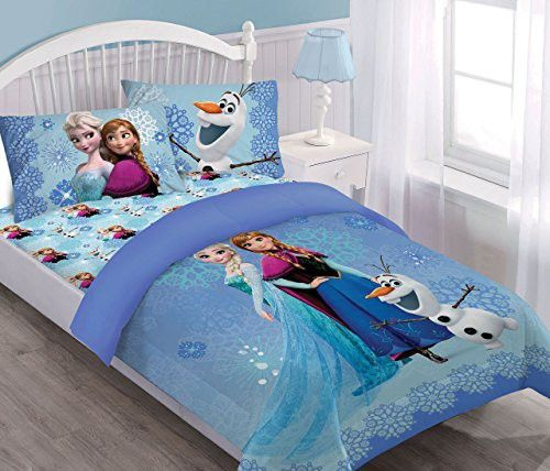 Disney Frozen Springtime Frost Full Comforter Set With