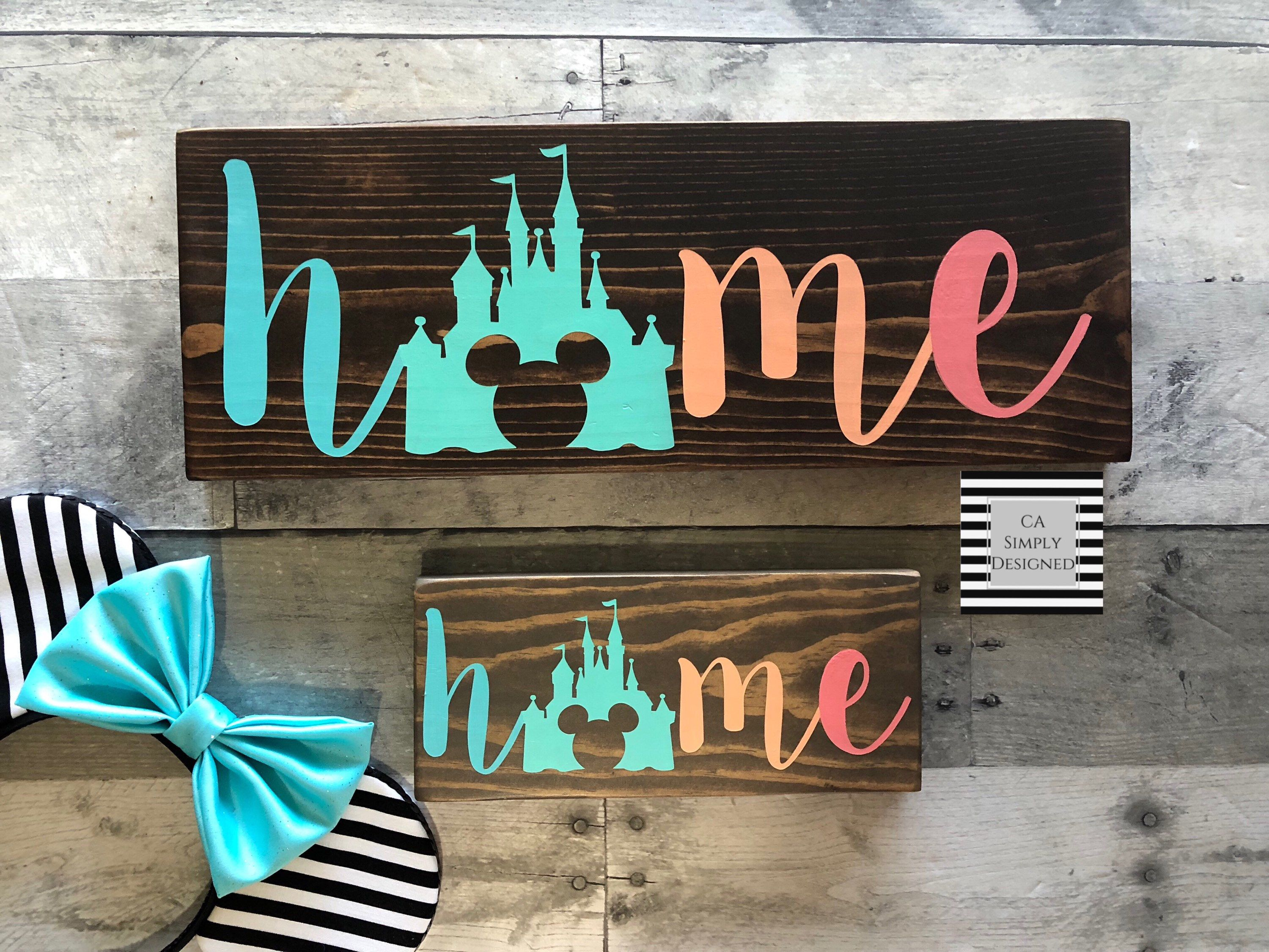 Colorful Disney Inspired Home Sign Disney inspired Home Sign