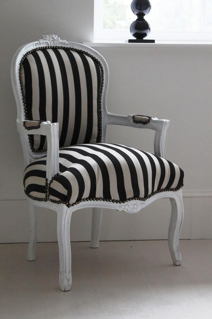 black and white striped armchair hermione decor ideas for the new house white bedroom. Black Bedroom Furniture Sets. Home Design Ideas