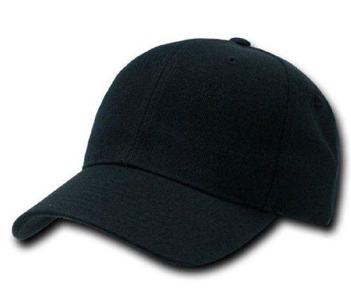 Amazon.com  Plain Adjustable Velcro Baseball Cap (Black)  Clothing b18e0fc1bd51