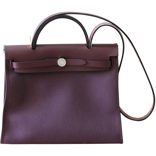 33d707ce1f72 Pre-owned HERMES Herbag 31  Bag in plum Officer canvas and plum Hunter...  ( 8
