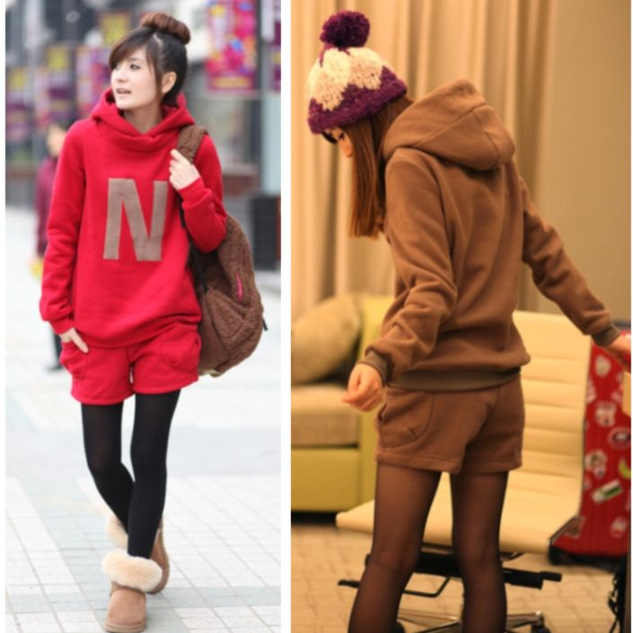new 2013 autumn and winter maternity clothing hooded sweatshirt+shorts Pregnant women suit keep warm sets mother baby Large size
