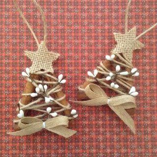 Burlap And Jute Stick Ornaments