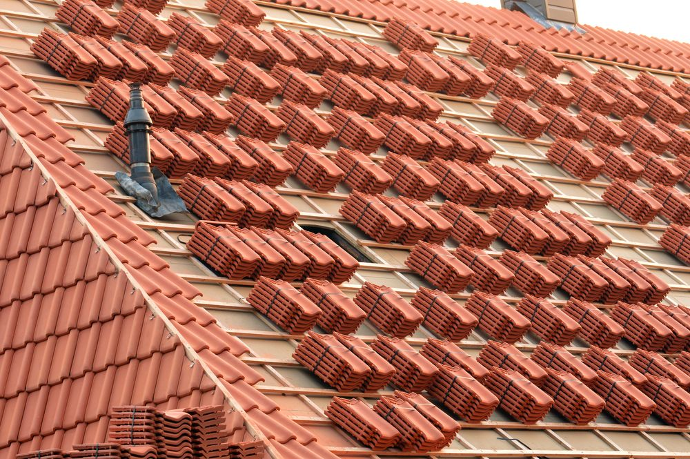 Clay roof tiles can last for many decades much longer