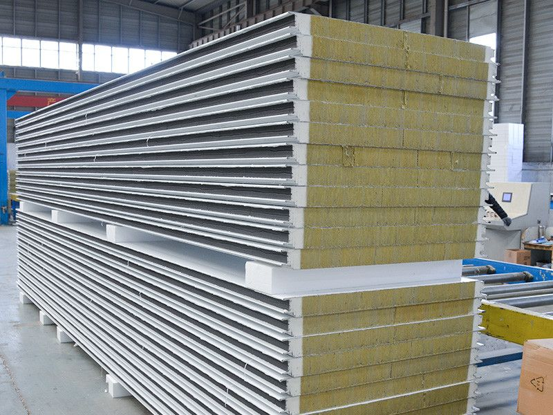 Rock Wool Sandwich Panel Paneling Galvanized Steel Steel Structure