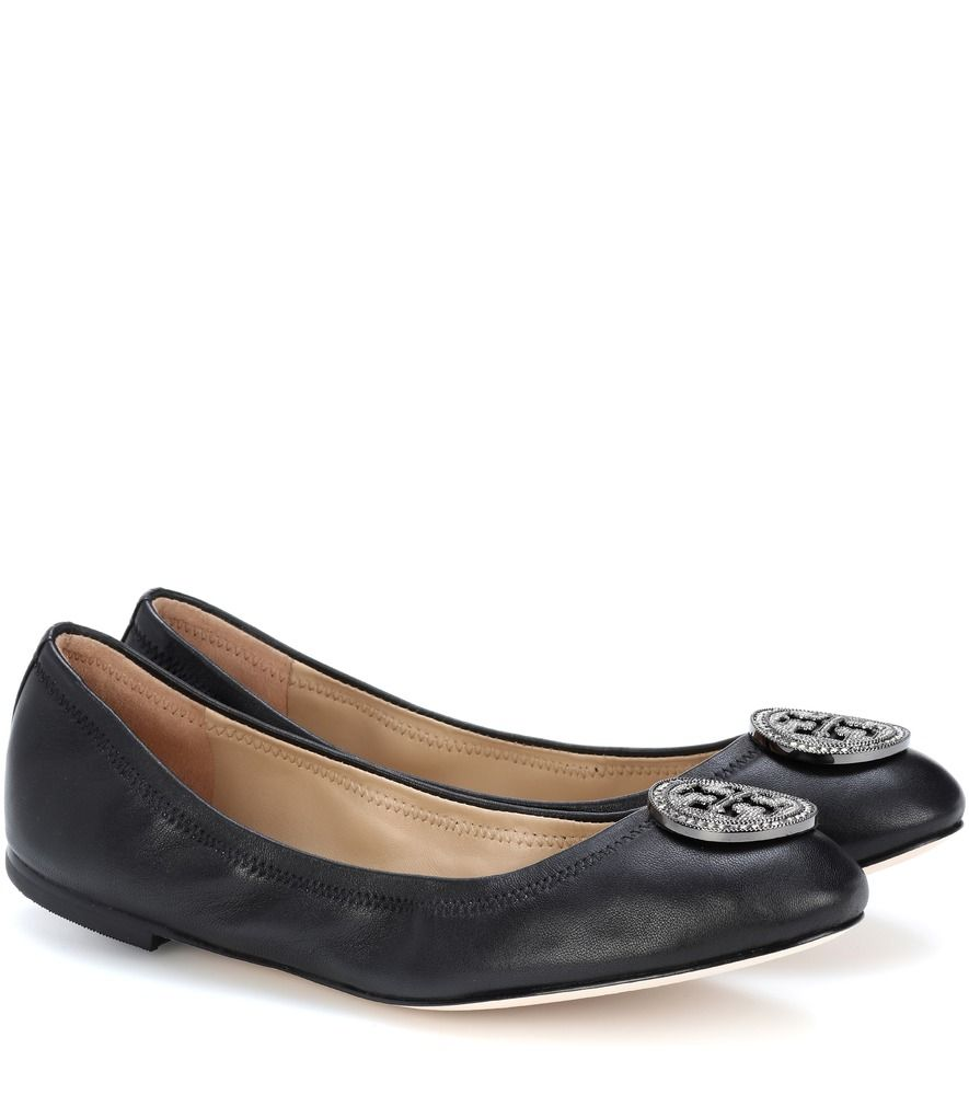 f994cf6bc Tory Burch - Liana leather ballerina shoes - Opt for a style that is equal  parts