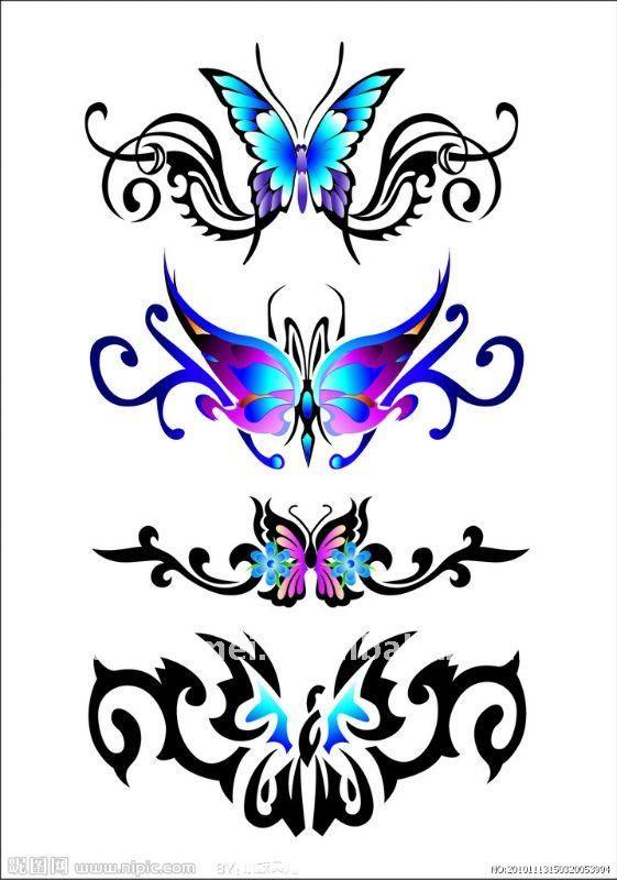 mariposa inferior de la espalda sexy tatuajes temporales tatuajes para mi. Black Bedroom Furniture Sets. Home Design Ideas