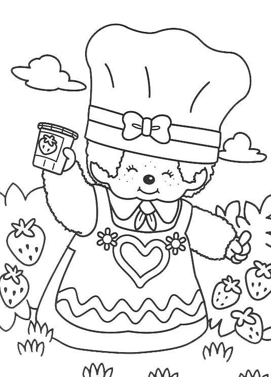 monchichi coloring pages - photo#19