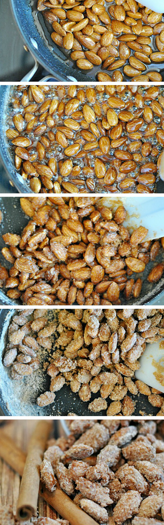 Cinnamon Sugared Almonds. So easy and so delicious. You're going to love this recipe!