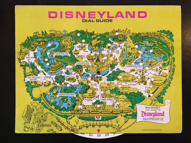 1976 Vintage Disneyland Dial Guide Map Vintage Disneyland Disneyland Vintage Disney