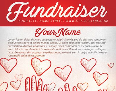 Check Out New Work Fundraiser Free Psd Flyer Template Fundraise