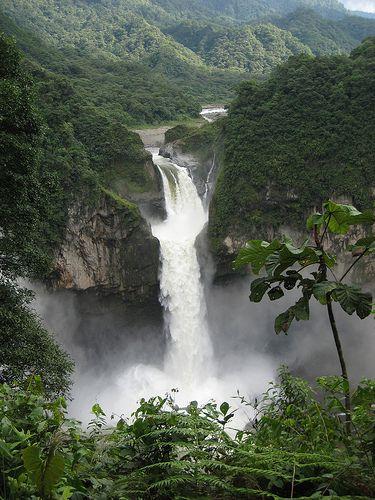 Ecuador San Rafael Waterfall Cascadas Lugares Exoticos Paisajes Ecuador