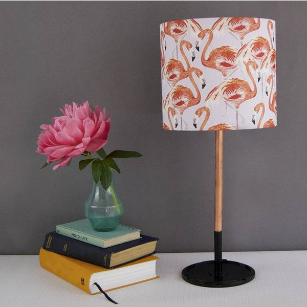 Blank Inside Flamingo Lampshade (590 EGP) ❤ liked on Polyvore featuring home, lighting, flamingo lamp, handmade lamps and flamingo lights