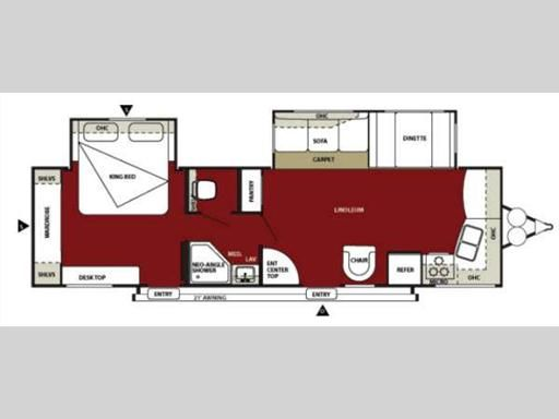 Another one of our favorite travel trailer floor plans