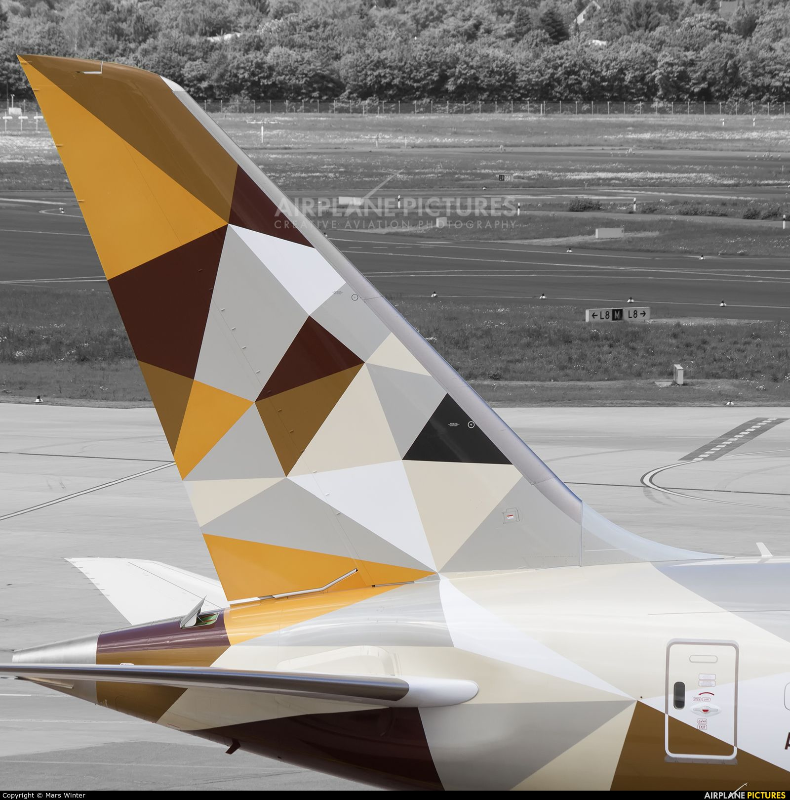 Etihad Airways A6-BLF aircraft at Düsseldorf photo