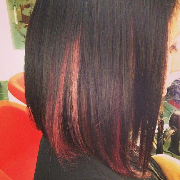 Peekaboo Pastel Pink Magenta Highlights Hair Pastel Hair Highlights Dark Hair With Highlights