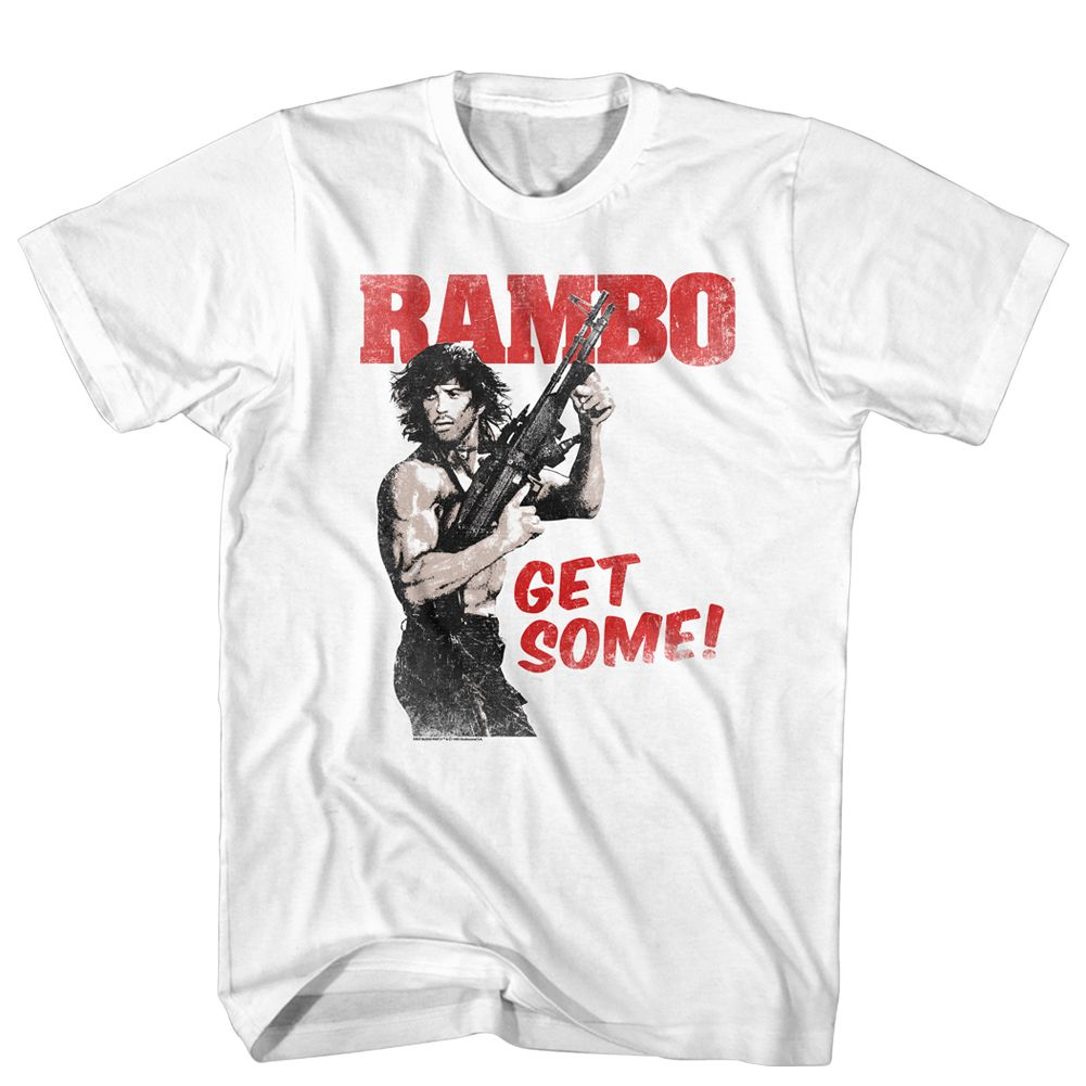 Rambo First Blood Movie Poster Cotton Men/'s T-shirts Black