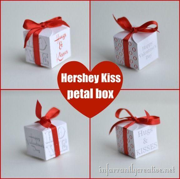 Valentine Hershey Kiss Box Valentines Day Valentines Hershey
