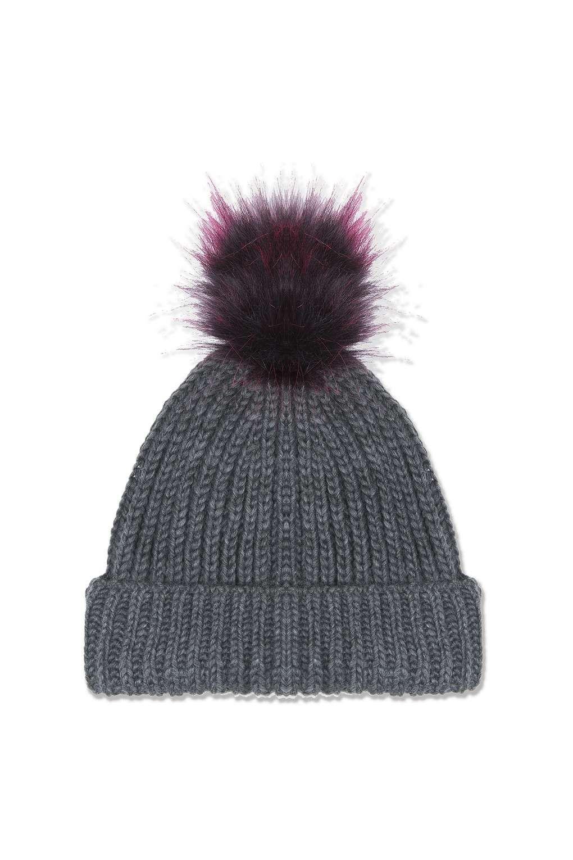 b67563dbd85e Grey Beanie With Purple Pom | Fashion/my style | Grey beanie, Beanie ...