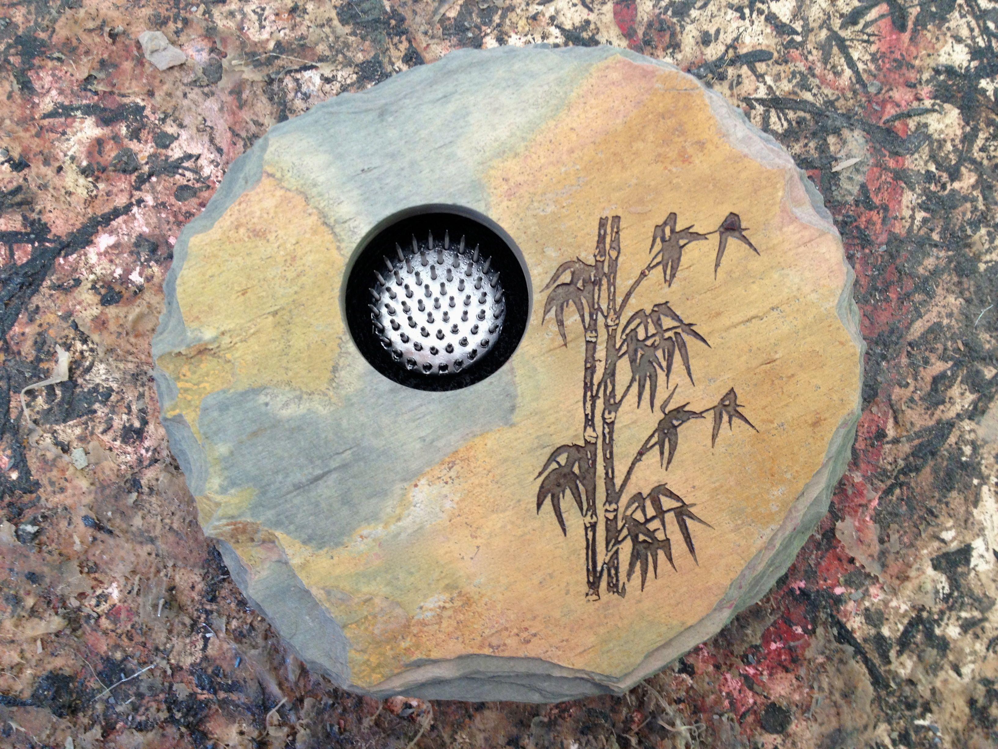 Bamboo design on slate ikebana vase handmade in noosa australia bamboo design on slate ikebana vase handmade in noosa australia floridaeventfo Images