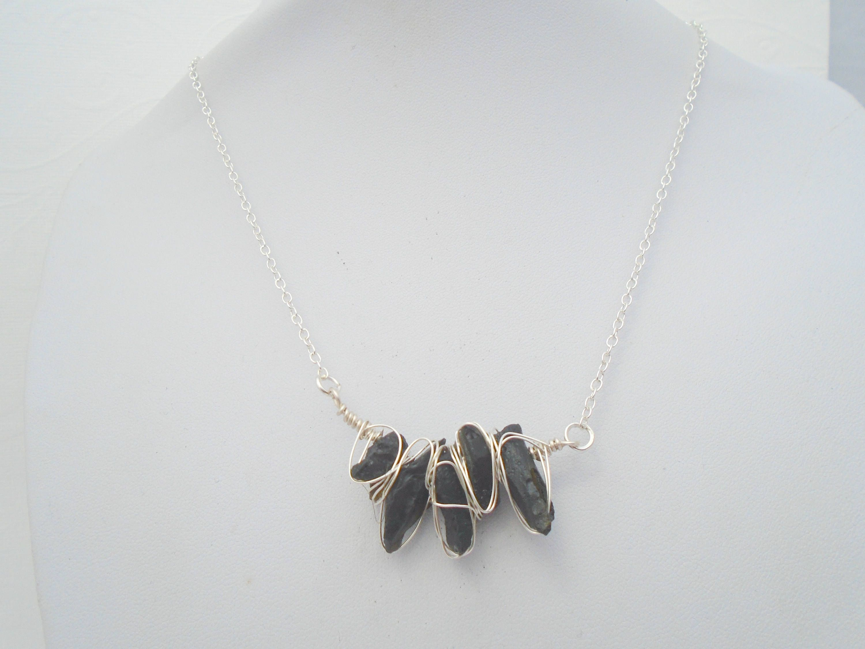 Moldavite Necklace, Moldavite Wire Wrapped Jewelry, Meteorite ...
