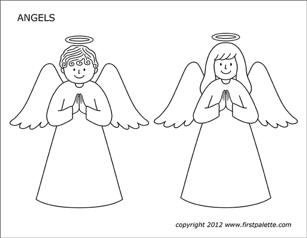 Angels Free Printable Templates Coloring Pages Firstpalette Com Angel Coloring Pages Christmas Angel Crafts Sunday School Crafts