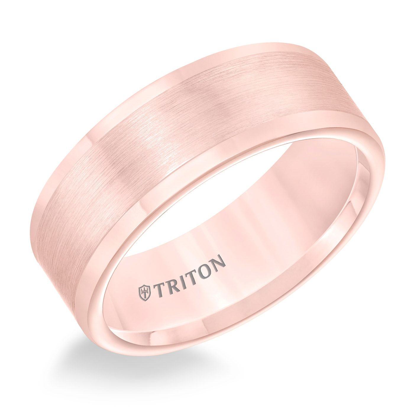 Rose Tungsten 8mm Flat Ring by Triton | Rose, Ring and Jewerly