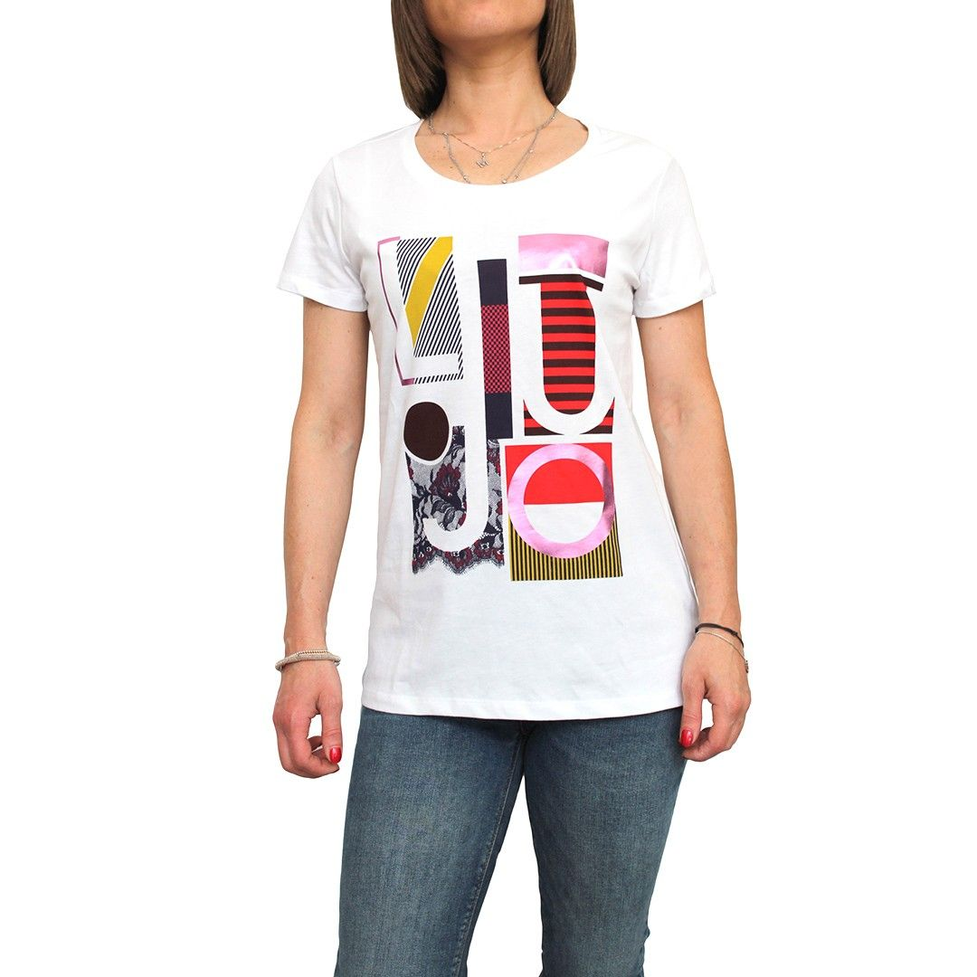 T-Shirt Liu-Jo W66152 Bianco Ottico   €39.00