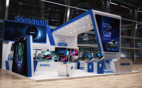 Samsung Exhibition Stand Design : Samsung booth at cairo ict exhibition stand design
