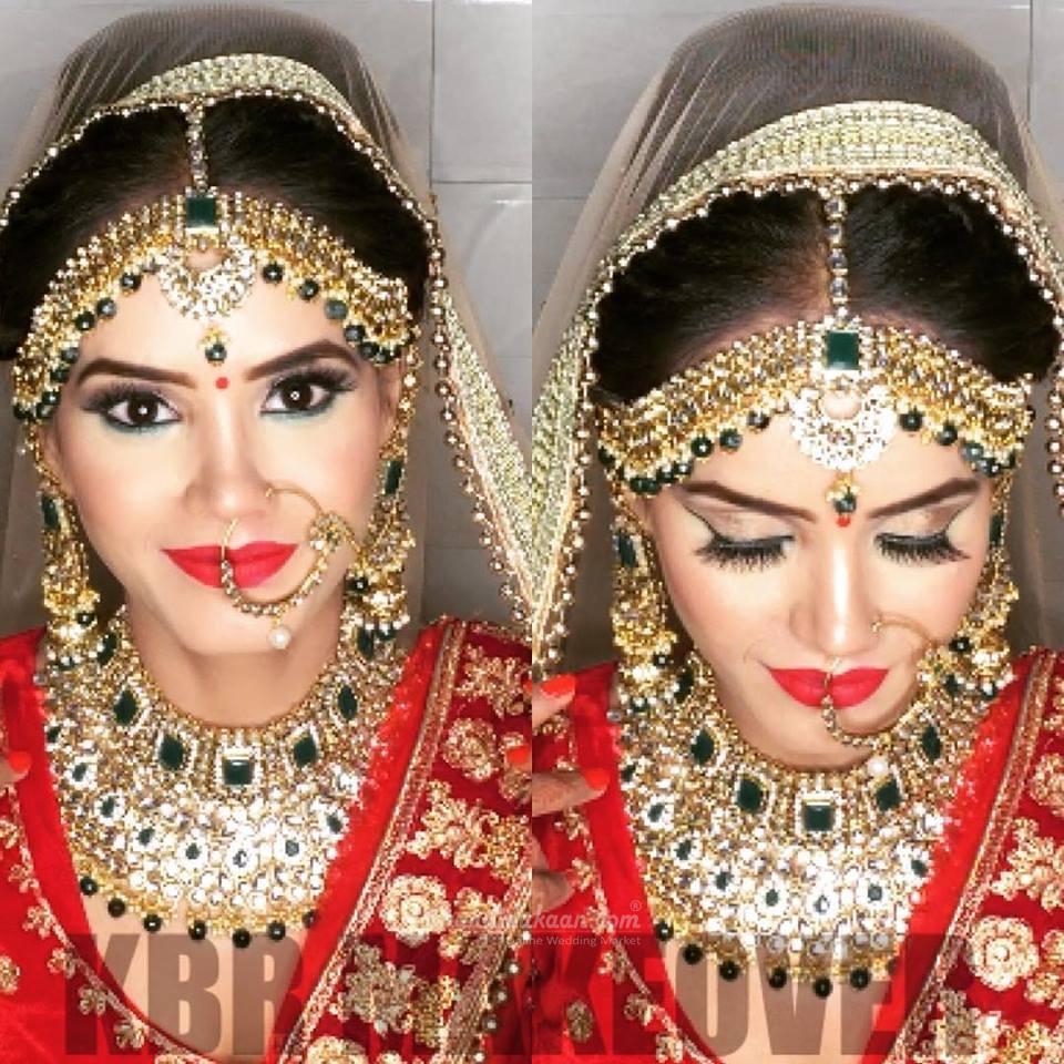 Makeup Artist in Delhi BYKBR Makeover Bridal hair and