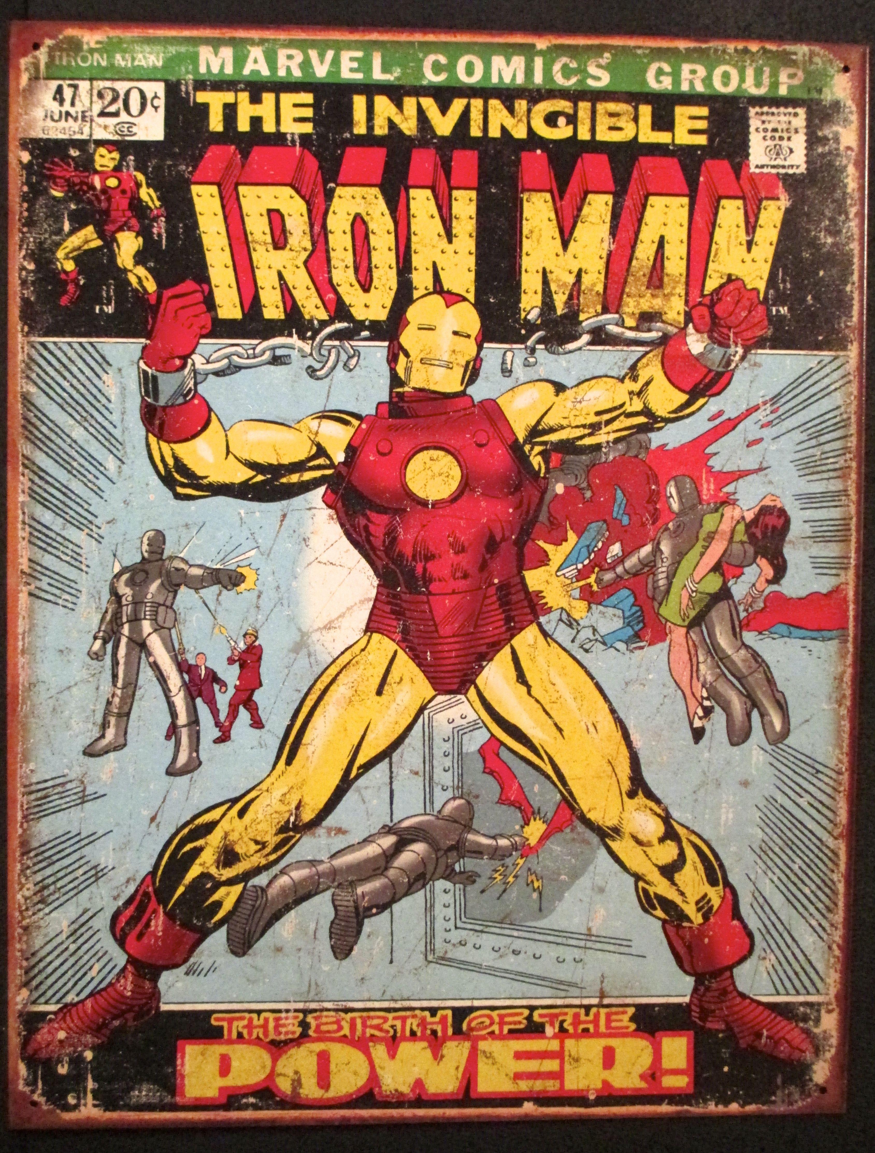 "Captain America Marvel Comic Book Cover Tin Sign Retro Room Decor Gift US 16/"""