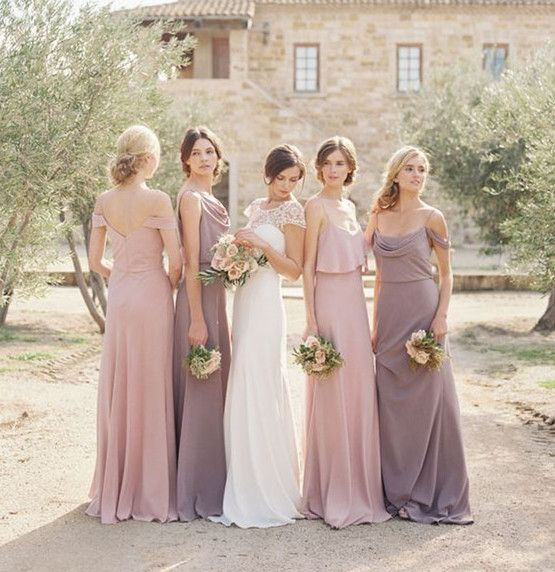 10 best combinations for mismatched bridesmaid dresses for Unique wedding dress styles