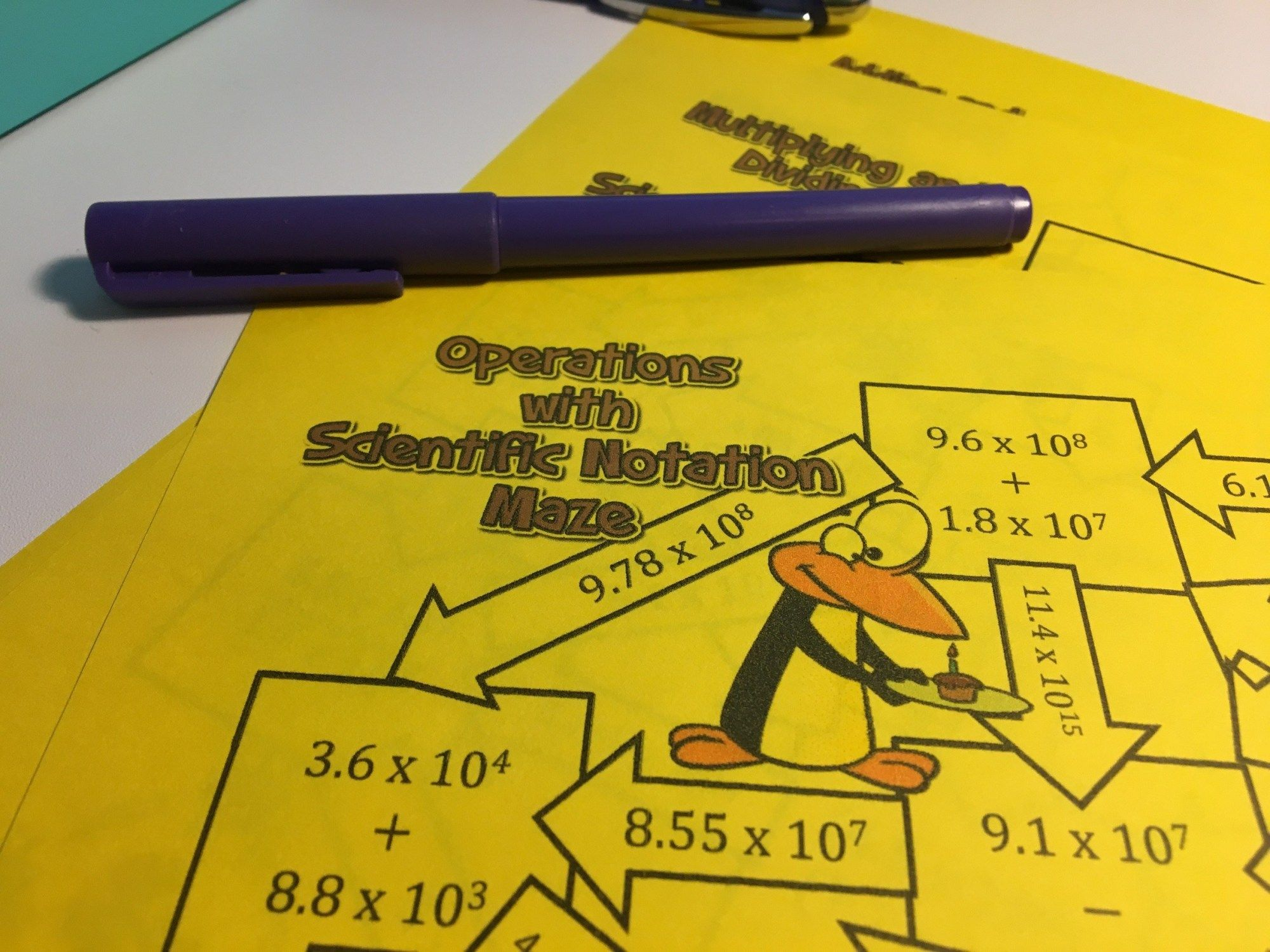 9 Operations With Scientific Notation Activities