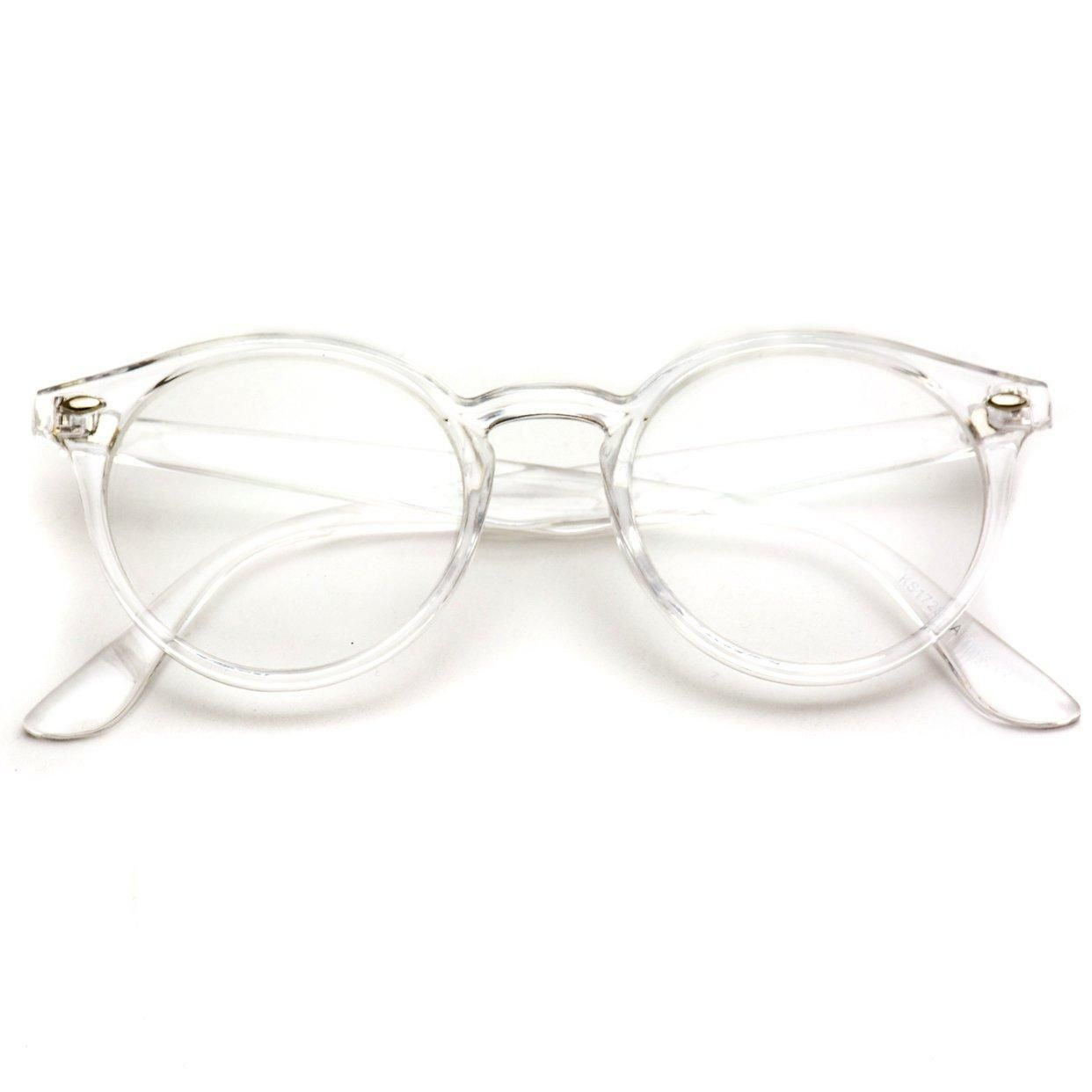 Ainsley Transparent Round Clear Frame Glasses Clear Optical